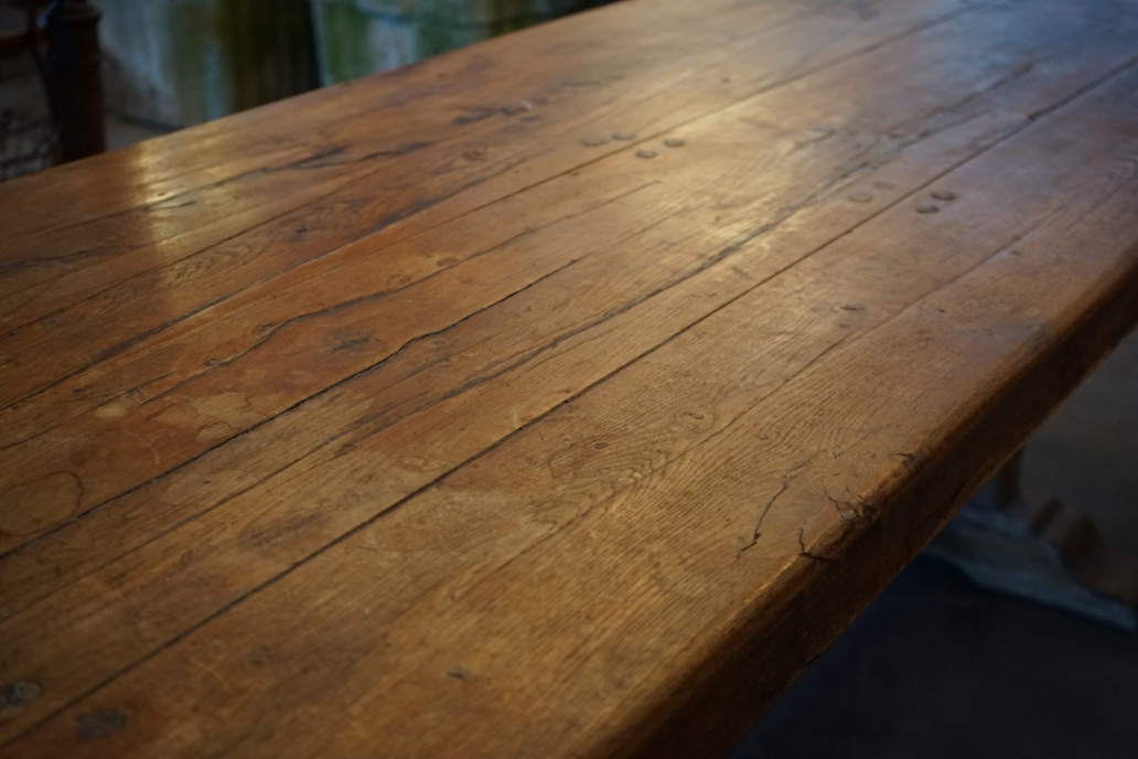 French-Solid-Oak-Refectory-Table4