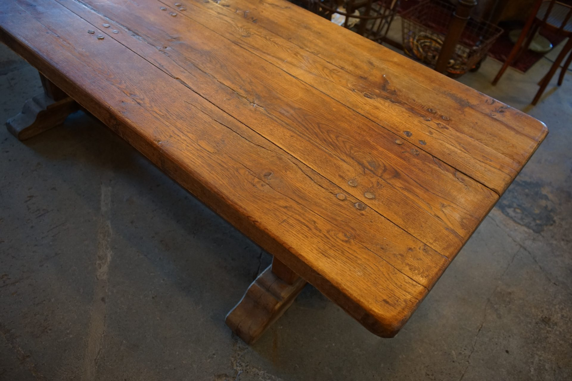 French-Solid-Oak-Refectory-Table8