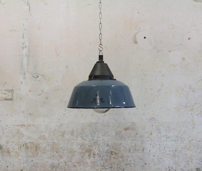 Blue Grey Industrial Light Hungary Vintage Industries
